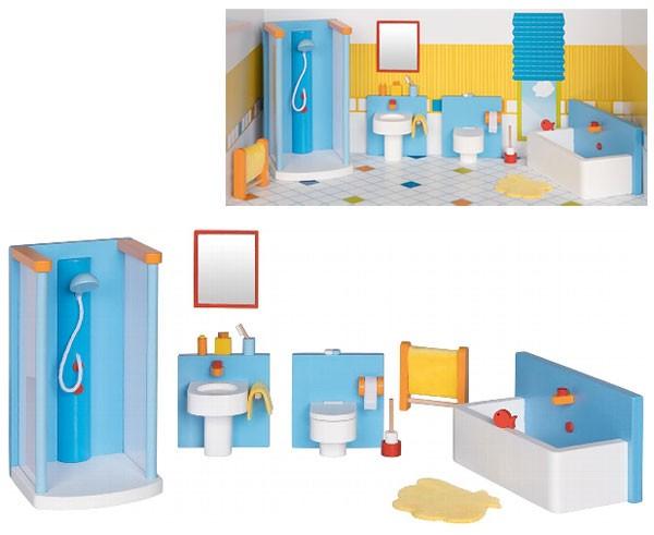 Puppenhausmöbel Modernes Badezimmer
