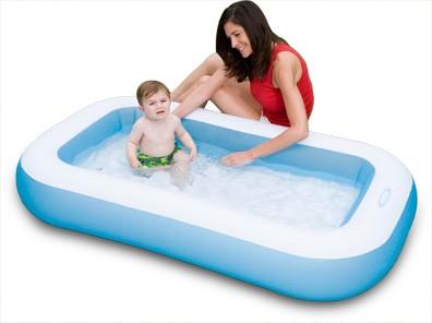 Baby-Pool mit ausblasbarem Boden (Blau)