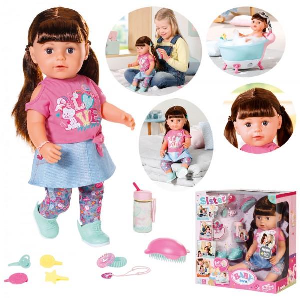 Baby Born Soft Touch Sister Puppe 43 cm (Brünett)