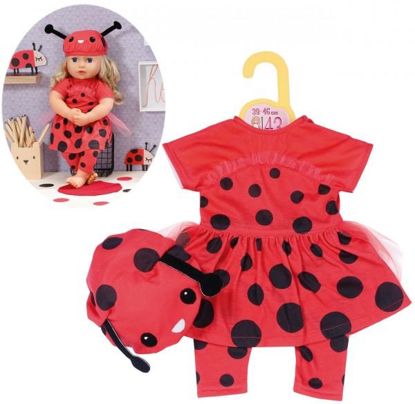 Dolly Moda Süßes Marienkäfer Outfit 43 cm (Rot-Schwarz)