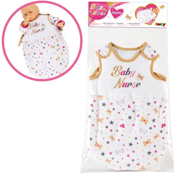 Puppenschlafsack Baby Nurse (Weiß-Gold)
