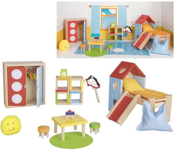 Puppenhausmöbel Modernes Kinderzimmer
