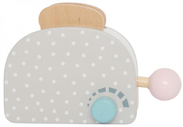Toaster aus Holz für Kinderküche (Grau)
