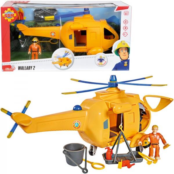Feuerwehrmann Sam Hubschrauber Wallaby II mit Figur