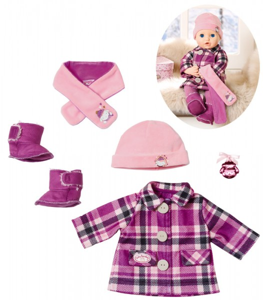 Baby Annabell Deluxe Mantelset 43 cm (Rosa-Brombeere)