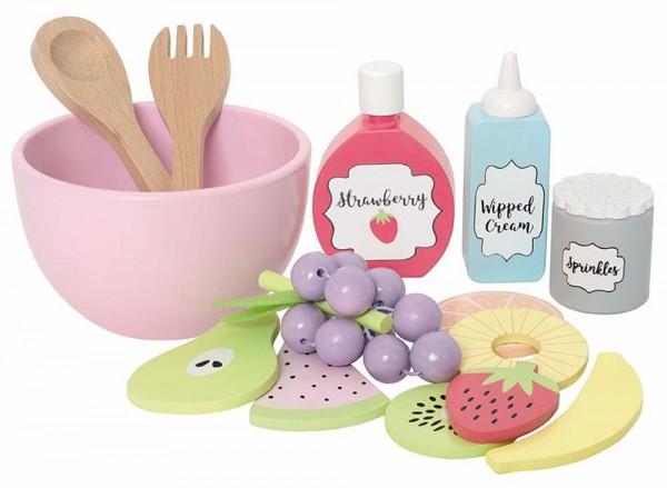 Köstlicher Fruchtsalat mit Zubehör (Pastell)