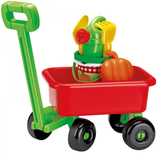 Handwagen mit Sandspielzeug