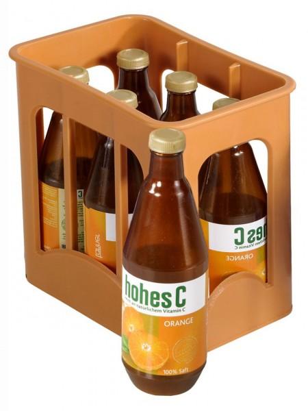 Getränkekiste für Kaufmannsladen Saft Hohes C Orange