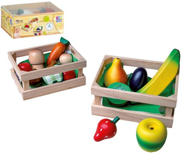 2 Holzkisten mit Obst & Gemüse