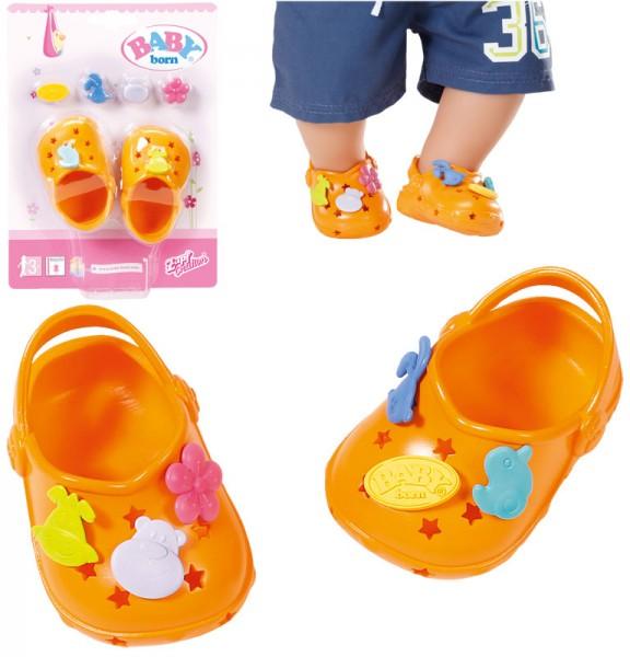 Baby Born Clogs mit Pins 43 cm (Orange)