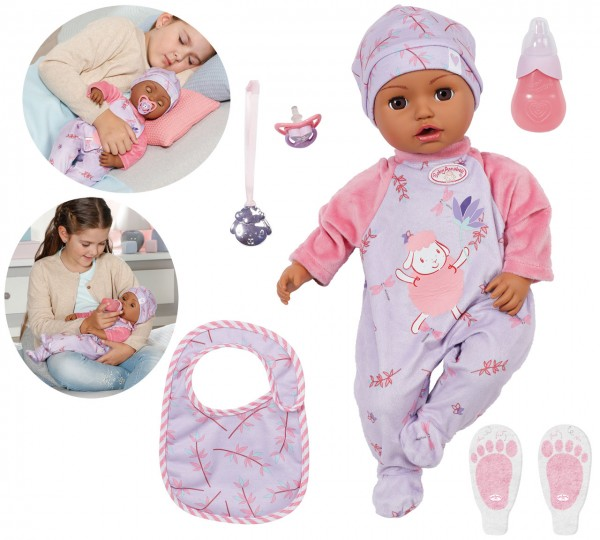 Baby Annabell Leah Puppe 43 cm (Dunkelhäutig)
