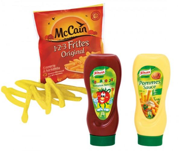 MC Cain Pommes mit Ketchup und Mayo Spiellebensmittel