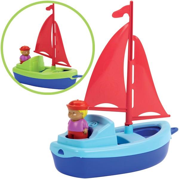 Segelboot mit Figur (Sortiert)