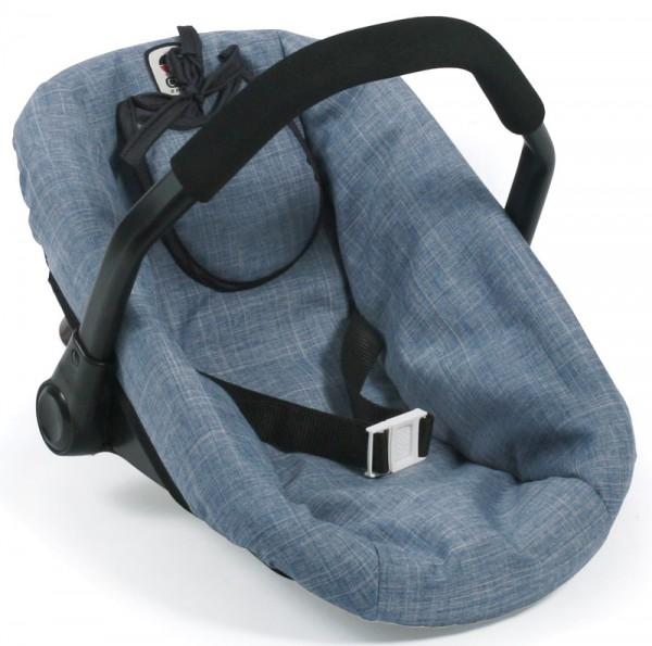 Puppenautositz mit Lätzchen (Jeans Blue)