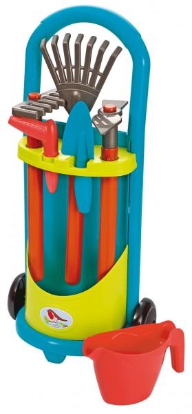 Gerätewagen mit Gartenzubehör (Petrol-Grün)