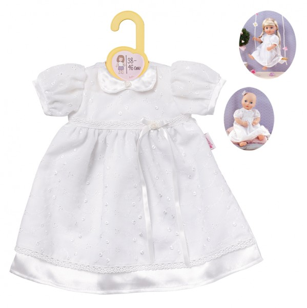 Dolly Moda Taufkleid 38 - 46 cm (Weiß)
