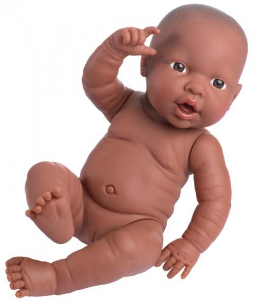Babypuppe anatomisch korrekt Mädchen 42 cm (Dunkelhäutig)