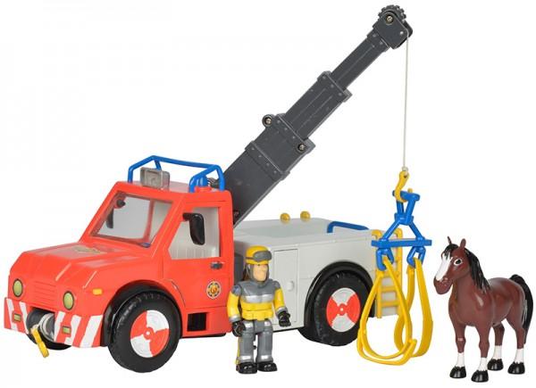 Feuerwehrmann Sam Phoenix mit Figur und Pferd