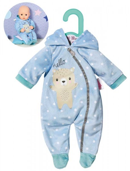 Dolly Moda Einteiler Bär 34 - 38 cm (Blau)