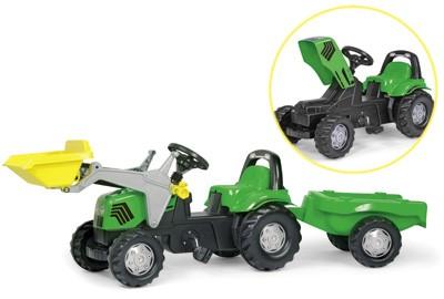 RollyKid Deutz-Fahr Traktor mit Lader und Anhänger (Grün)