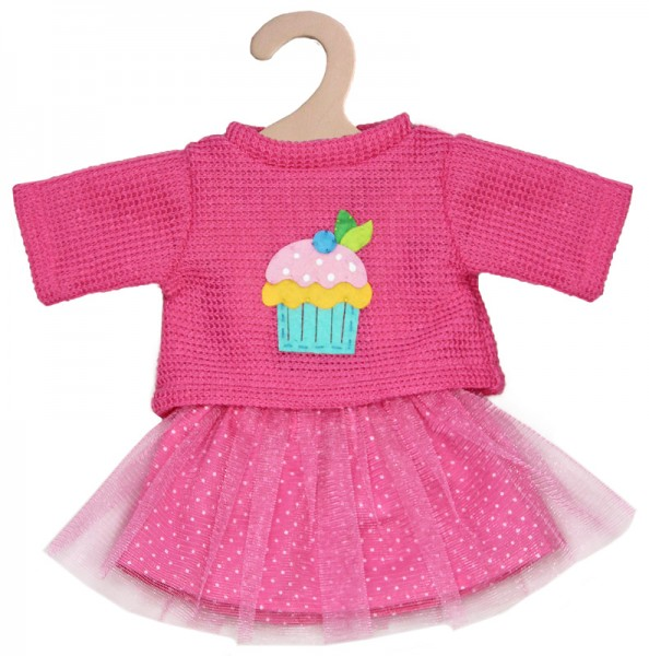Kleidungsset Tüllrock mit Pullover Cupcake Gr. 35 - 45 cm (Pink)