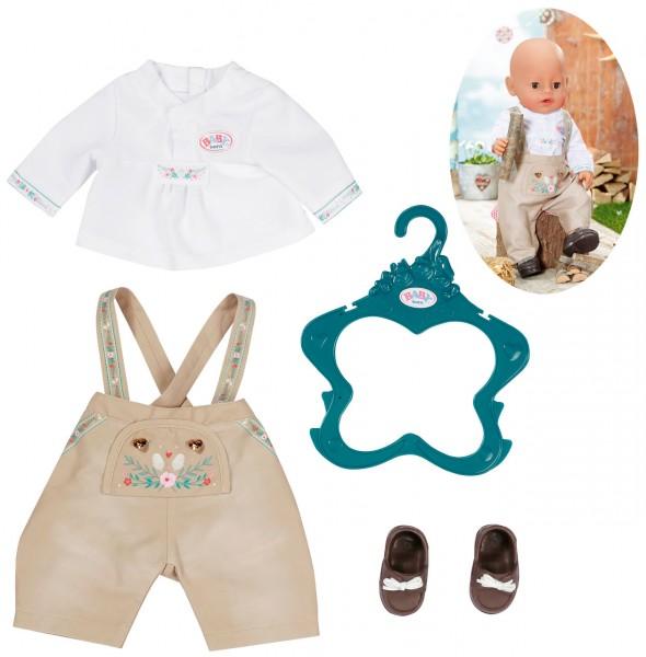Baby Born Trachten-Outfit Junge 43 cm (Beige-Weiß)