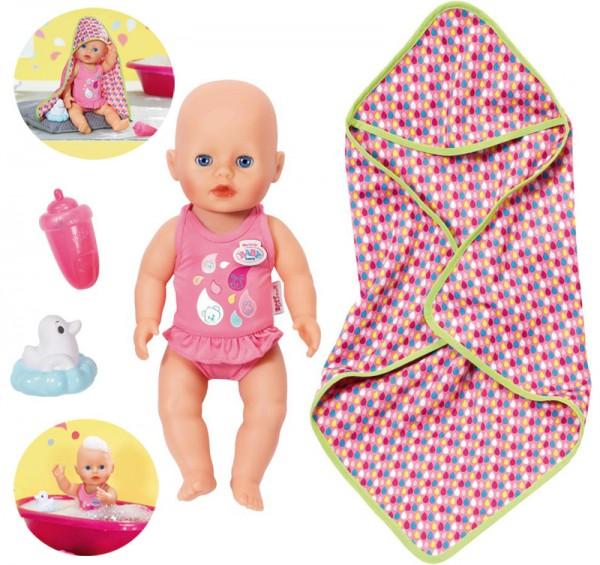 My Little Baby Born Badespaß Puppe 32 cm (Pink)