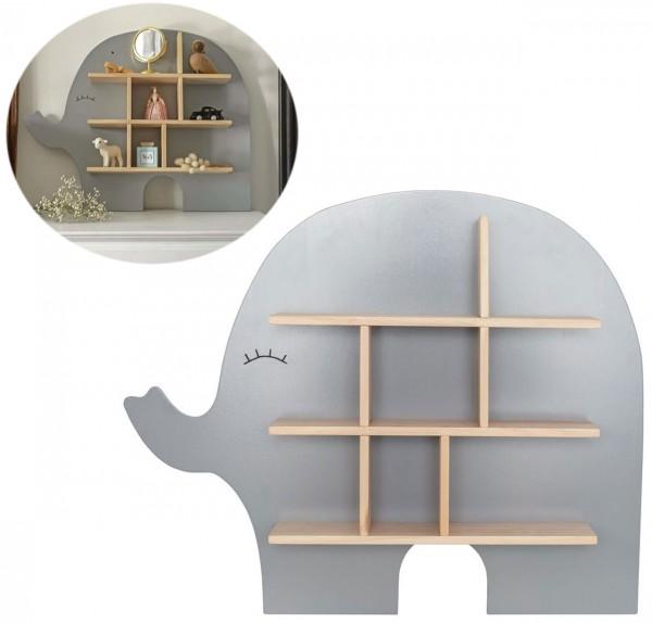 Süßes Regal Elefant (Grau)