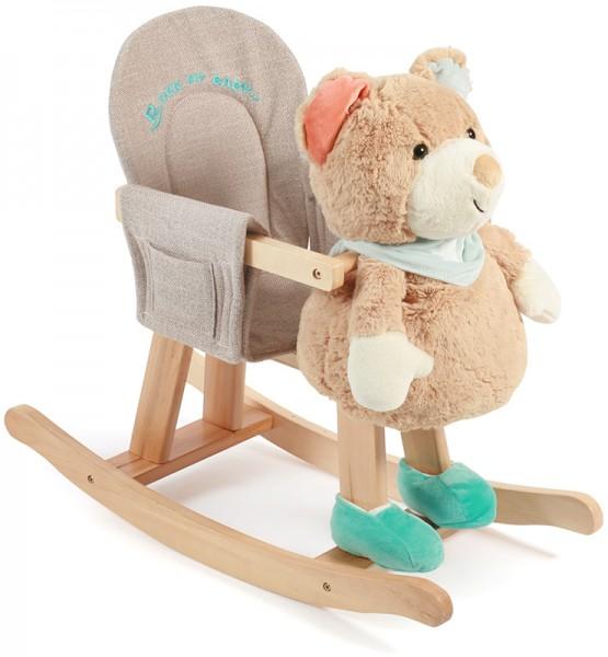 Schaukeltier Teddy mit großer Handpuppe