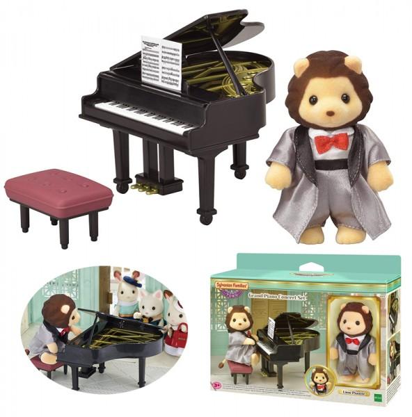 Sylvanian Families Town Series Klavierkonzert Set mit Löwen-Figur