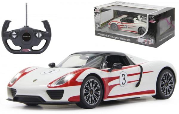 RC Porsche 918 Spyder Race 1:14 40 MHz (Weiß-Rot)