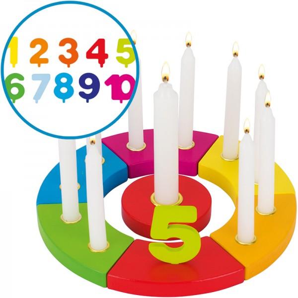 Geburtstagskranz Regenbogen mit Zahlen
