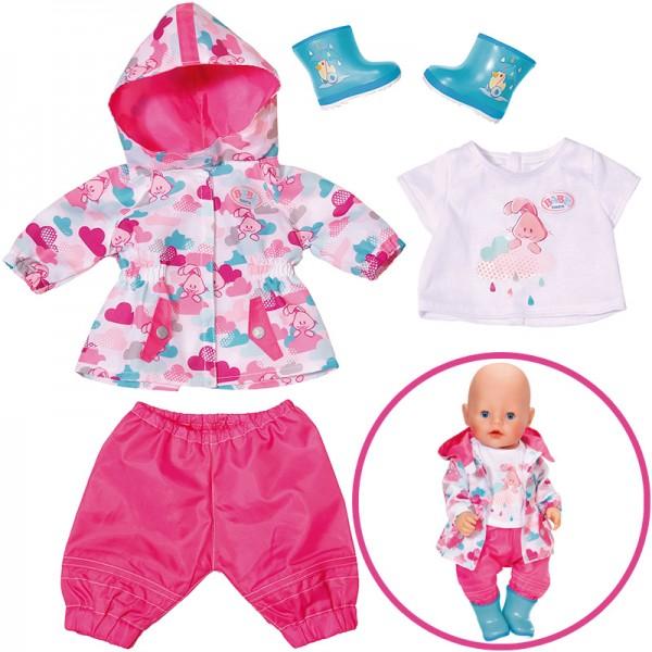 Baby Born Deluxe Regenspaß Set 43 cm (Pink-Türkis)