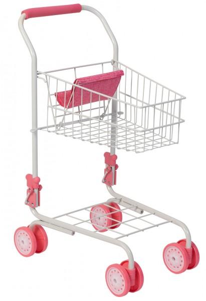 Supermarkt Einkaufswagen für Kinder (Weiß-Rosa)
