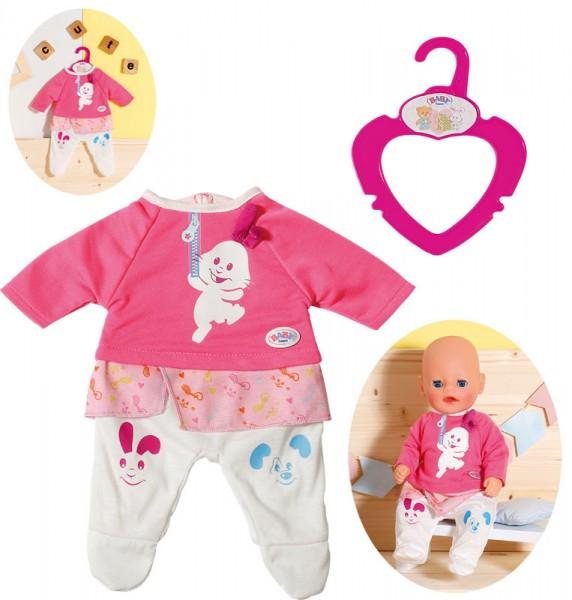 Baby Born Kleiner Einteiler 36 cm (Pink-Weiß)