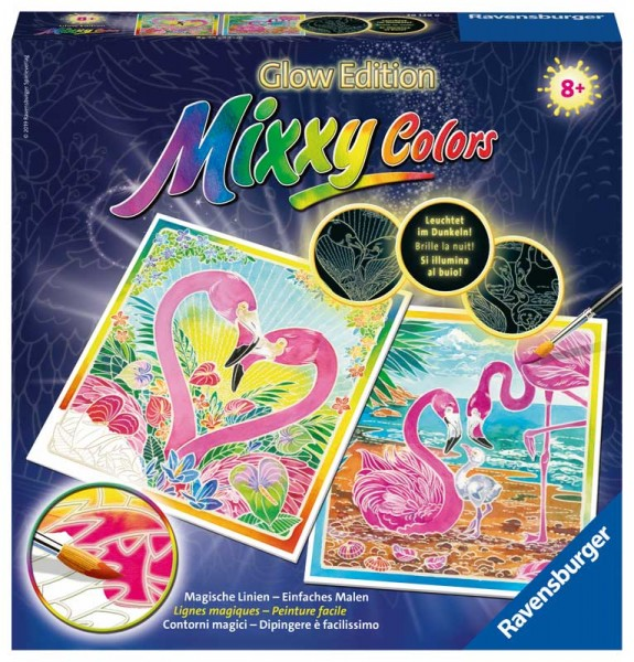 Malen nach Zahlen Mixxy Colors Traumhafte Flamingos