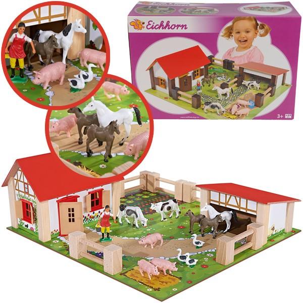Spielset Kleiner Bauernhof aus Holz