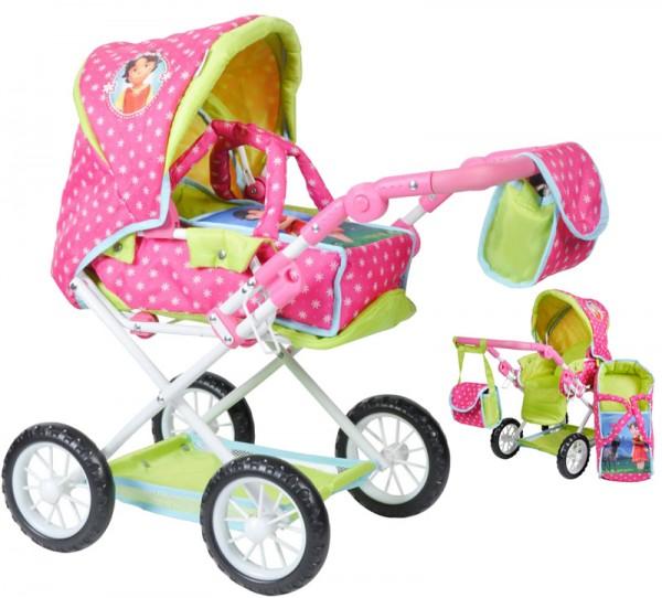 Puppenwagen Ruby Heidi (Pink-Grün)