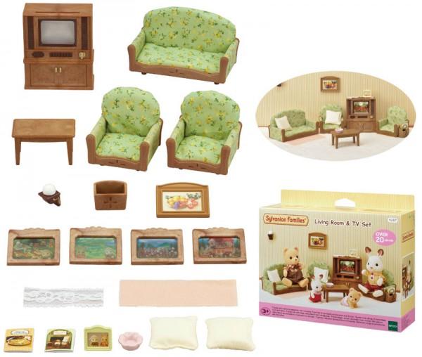Sylvanian Families Wohnzimmer mit Fernseher