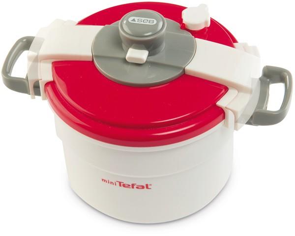 Mini Tefal Schnellkochtopf (Weiß-Rot)
