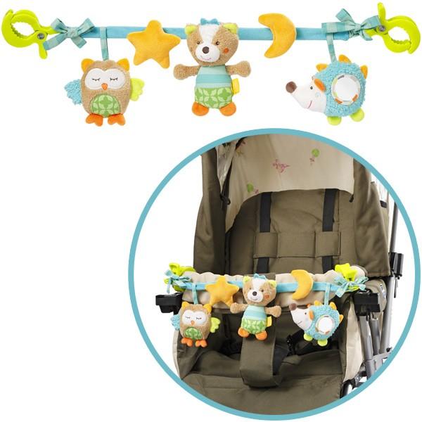 Sleeping Forest Kinderwagenkette Eule Igel Fuchs