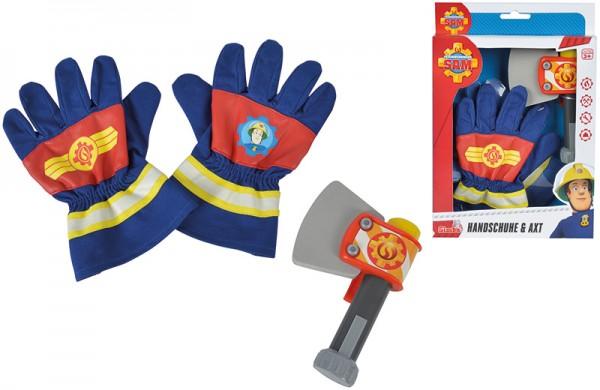 Feuerwehrmann Sam Handschuhe und Axt