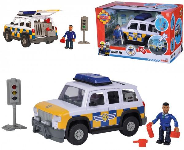 Feuerwehrmann Sam Polizeiauto 4x4 mit Figur Malcolm