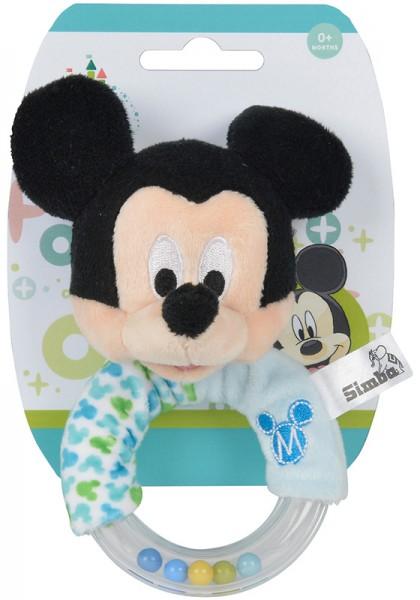 Disney Mickey Maus Baby Rassel (Hellblau)