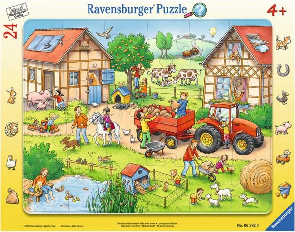 Rahmenpuzzle Mein kleiner Bauernhof mit 24 Teilen