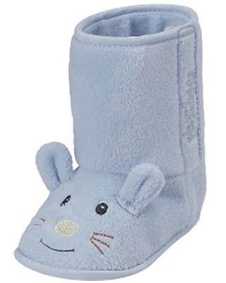 Babyschuhe Maus gefüttert Gr. 16/17 (Hellblau)