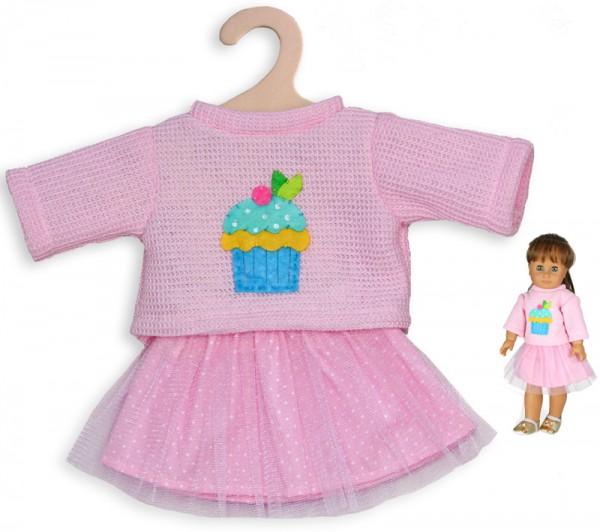 Kleidungsset Tüllrock mit Pullover Cupcake Gr. 35 - 45 cm (Rosa)