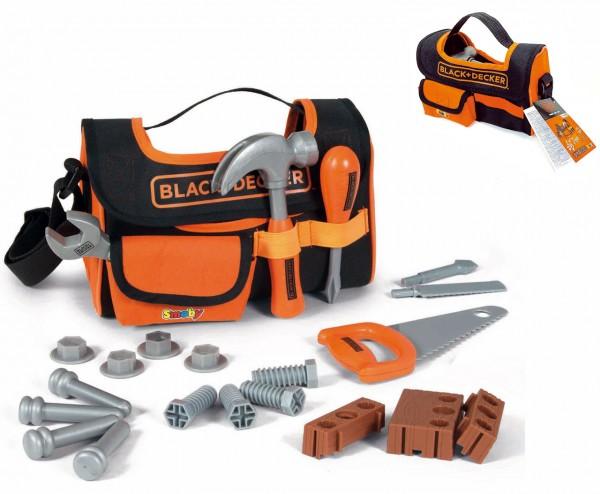 Black & Decker Werkzeugtasche mit Zubehör (Schwarz-Orange)