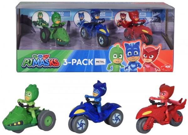 PJ Masks 3-Pack Fahrzeugset aus Metall Motorräder