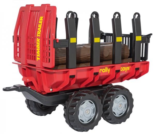 RollyTrailer Anhänger Timber mit Baumstämmen (Rot)